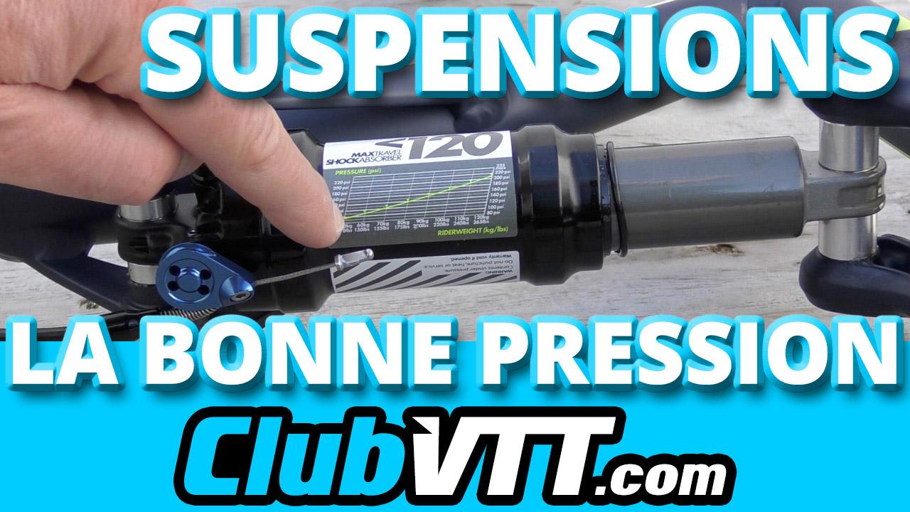 Quelle pression pour vos suspensions vtt ? faites le bon gonflage.