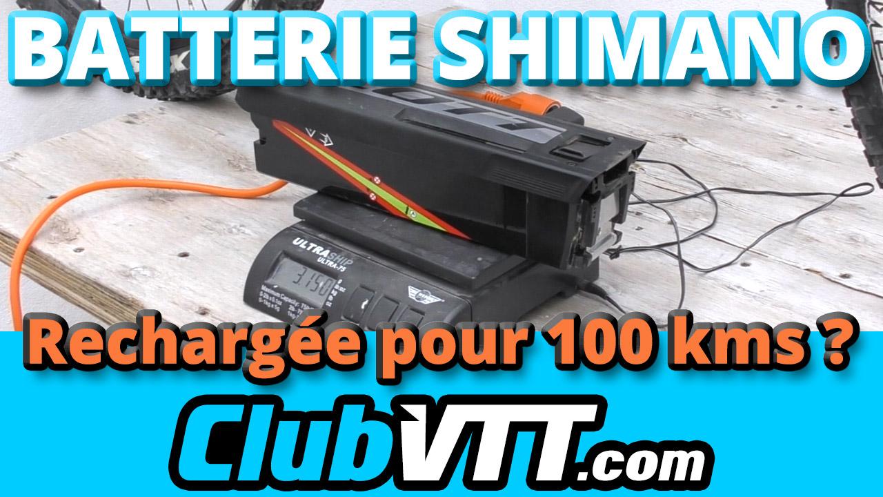 Batterie SHIMANO STEPS E8000 : recharge et autonomie