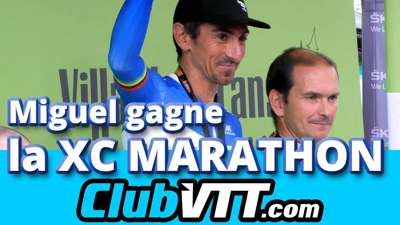 Miguel Martinez remporte la compétition de vtt cross country marathon