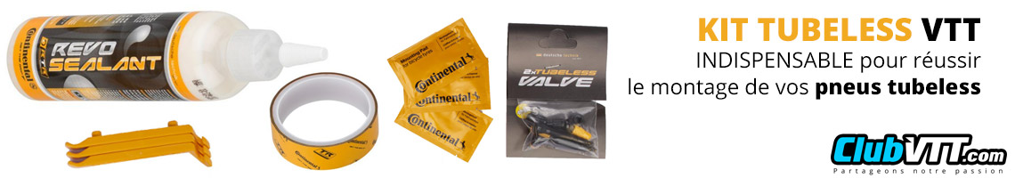 kit tubeless vtt continental