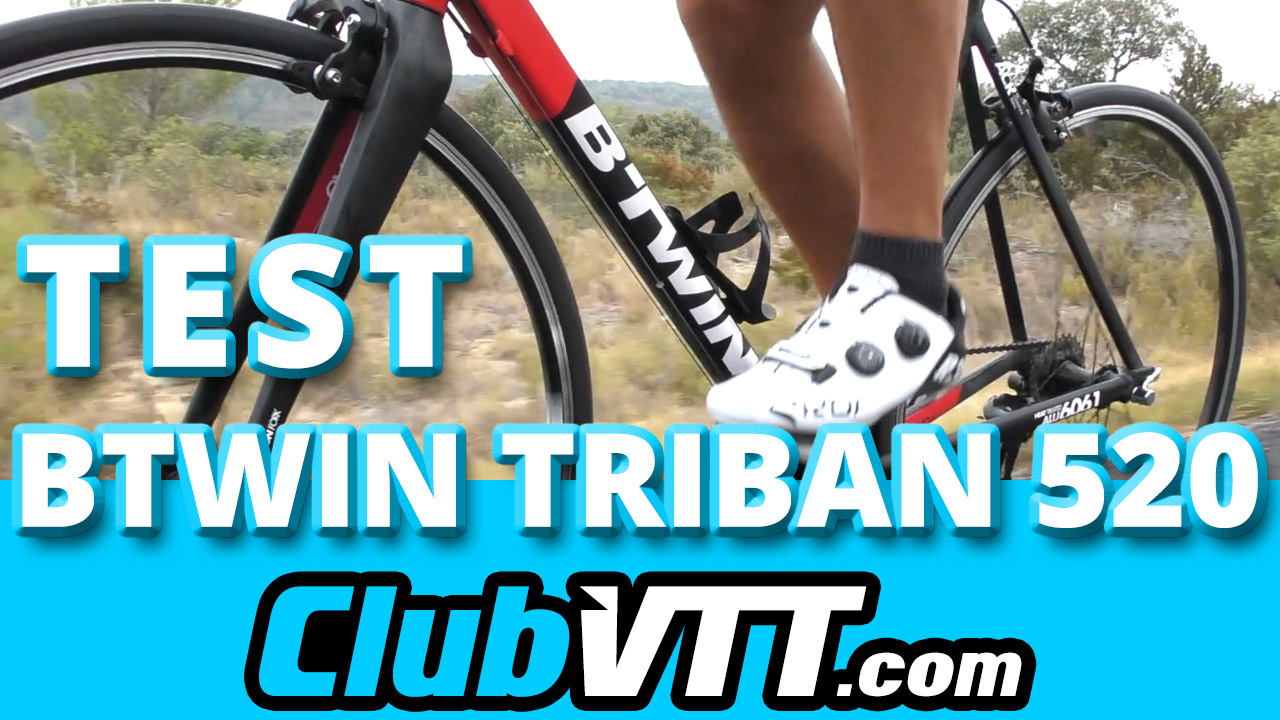 test velo de route btwin triban 520