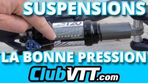 pression suspension vtt